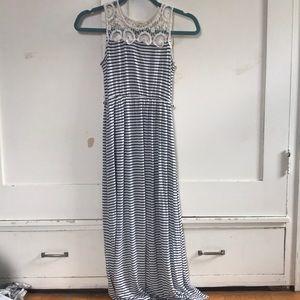 Monteau girl maxi dress with crochet straps